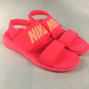NIKE Tanjun Sandal Racer Hot Pink Slip On Size 11